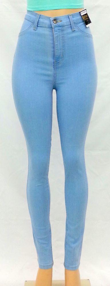 High Waist Light Wash Skinny Classic Denim Jean Pants   eBay