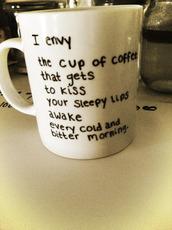 home accessory,black,white,cup,mug,quote on it mug