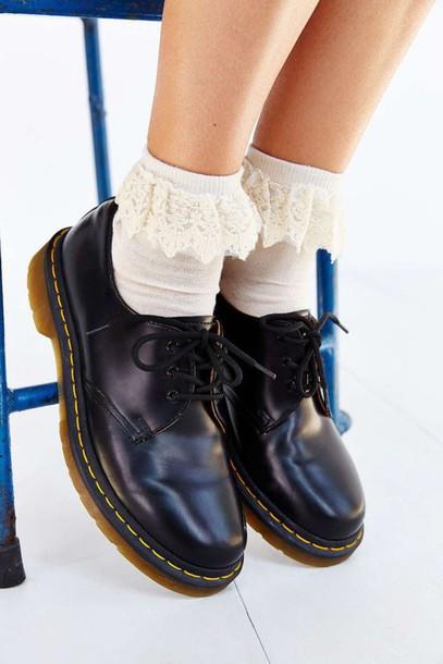 socks frilly frilly socks dr marten boots