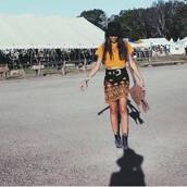 skirt,black skirt,festival looks