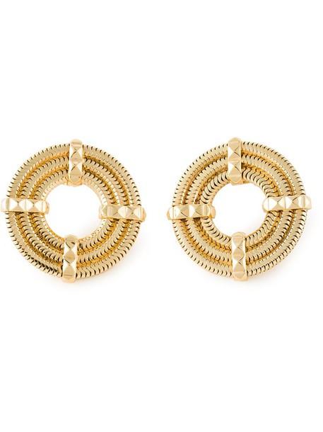 women earrings grey metallic jewels
