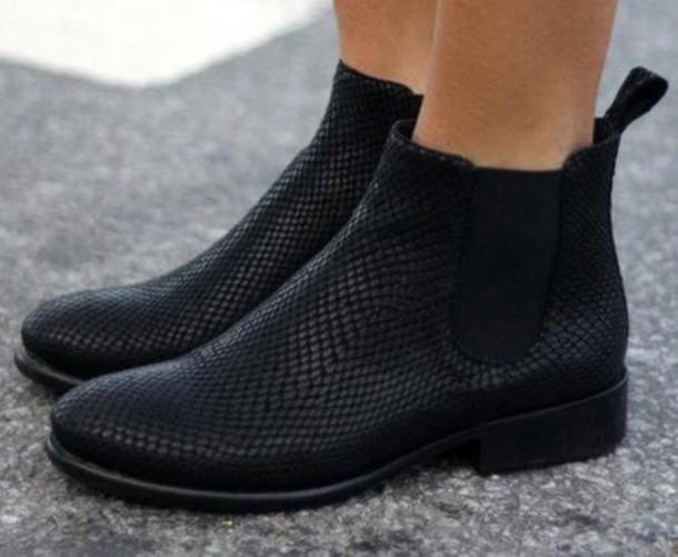 87389b59b shoes boots black shoes black crocodile chelsea boots