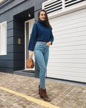 sweater,knitwear,denim,jeans,boots