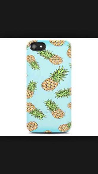 phone cover pineapple print blue dress fashion style urban hipster