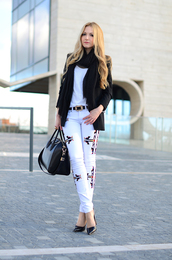 oh my vogue,jacket,t-shirt,jeans,bag,shoes,jewels,embroidered jeans