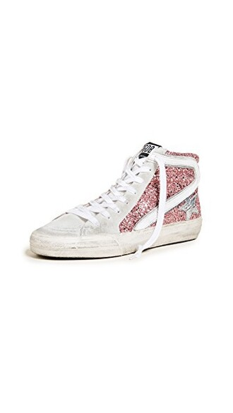 sneakers silver white pink shoes