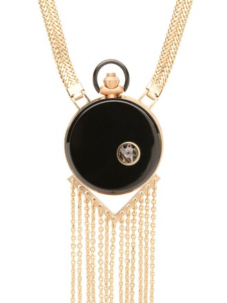 necklace watch rose gold rose gold jewels