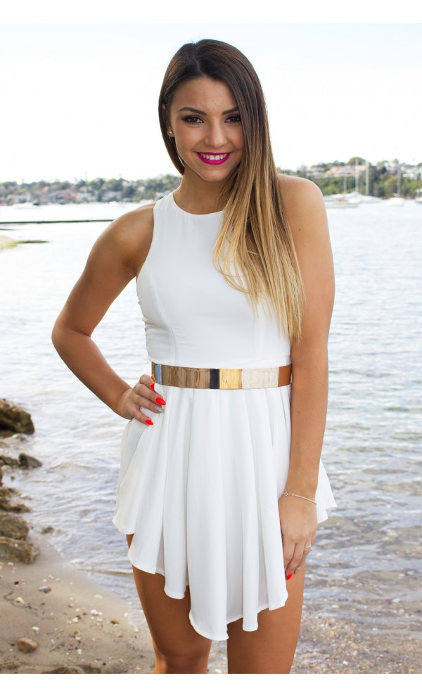 Show Off Playsuit White