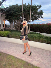 a spoonful of style,sweater,skirt,shoes,bag,jewels,sunglasses