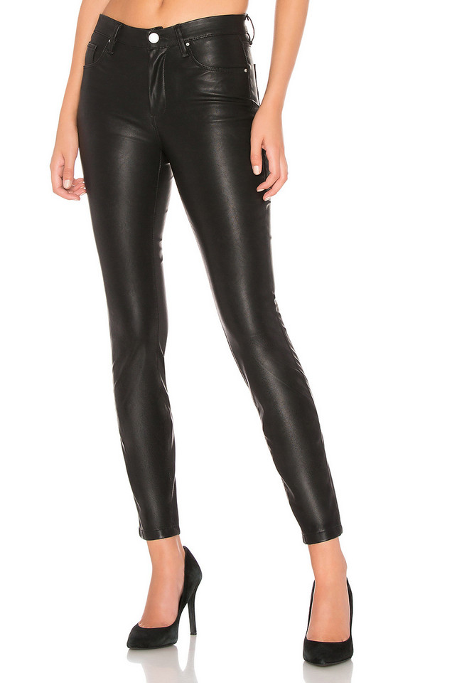 BLANKNYC Vegan Leather Pant in black