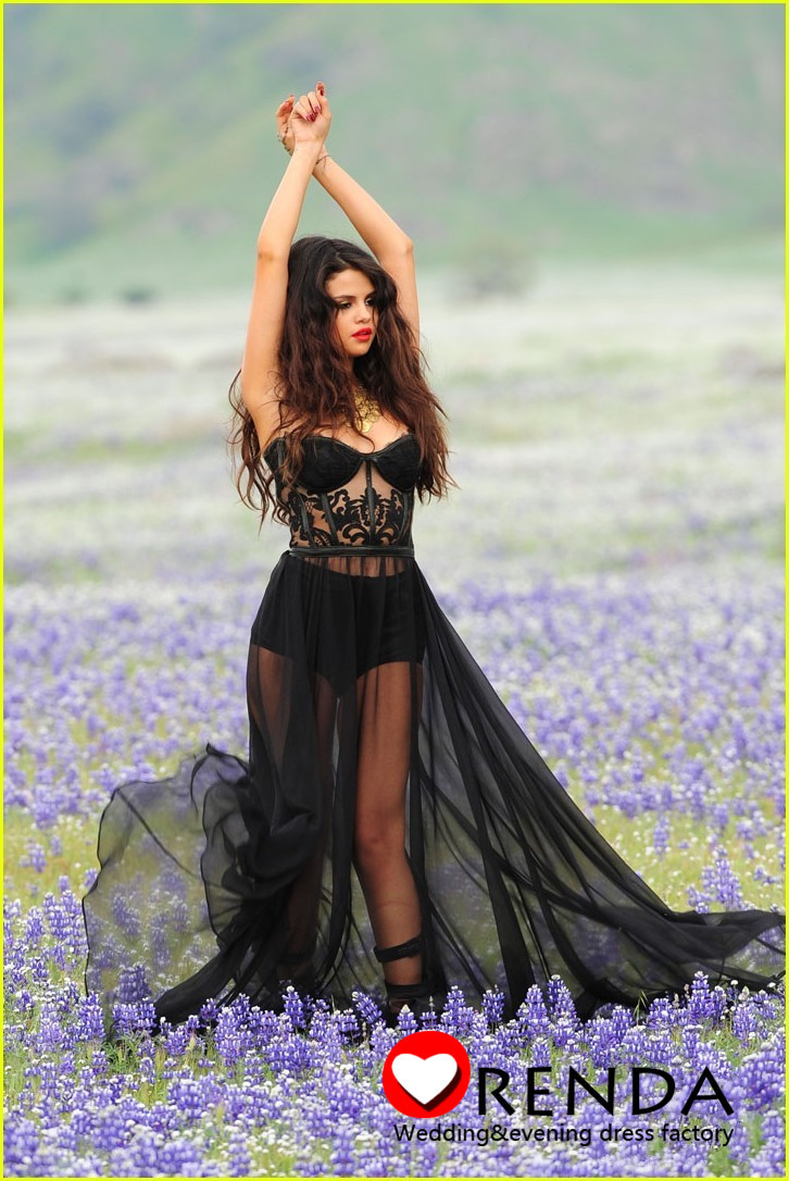 2013 Selena Gomez Dress Sexy Sweetheart See Through A line Floor length Chiffon Cheap Celebrity Dresses Under 100-in Celebrity-Inspired Dresses from Apparel & Accessories on Aliexpress.com