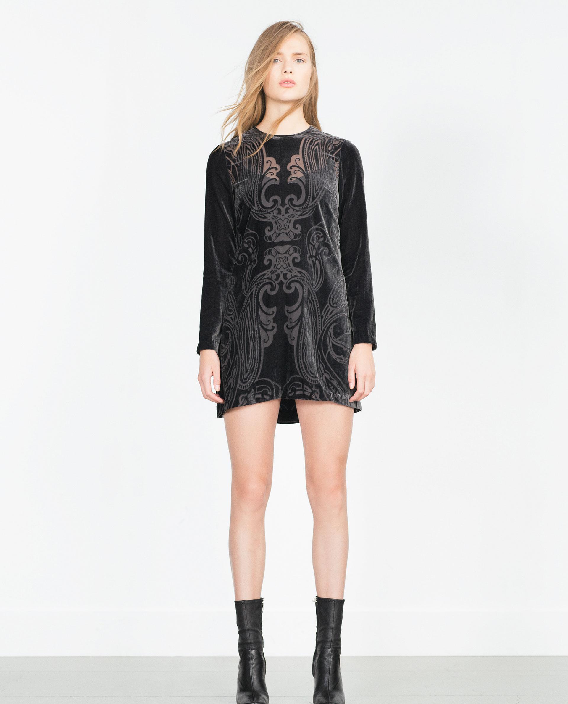Zara femme robe mini