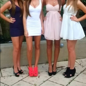 dress,clothes,white dress,pink dress,blue dress,shoes