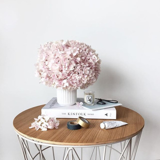 home accessory table wood flowers book living room home furniture