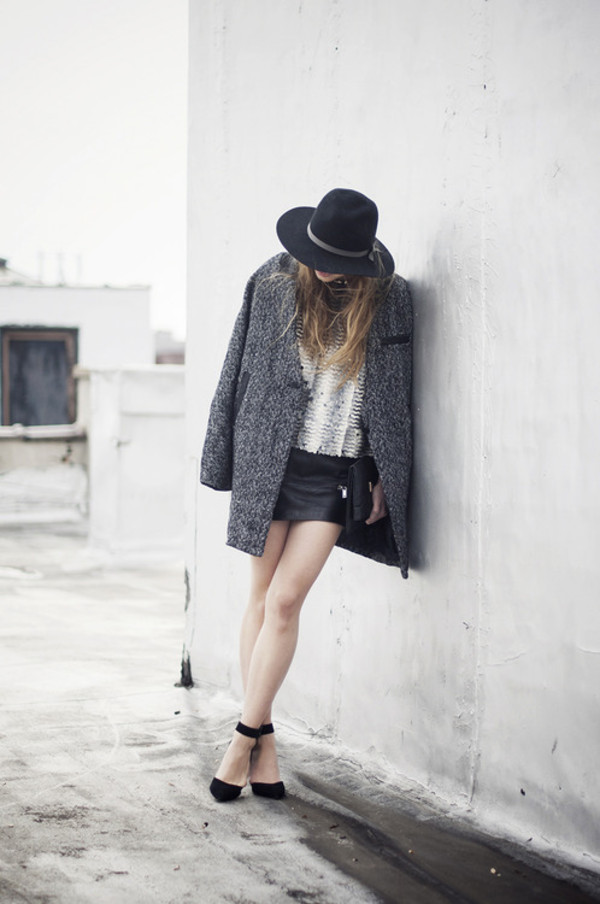 just another me t-shirt coat skirt hat shoes jeans bag