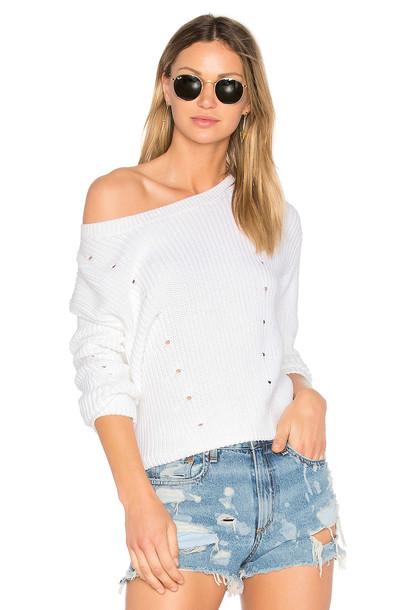 522bbcb1281 rag   bone JEAN Lara Crew Sweater in white - Wheretoget