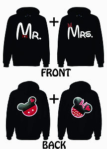 Mr and Mrs He's Mine Mickey 2 Hoodie Sweatshirt for Couple Love Valentine Gift | eBay
