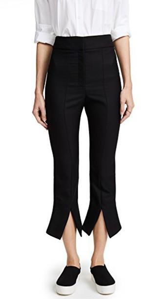 Jacquemus pants cropped pants cropped slit black