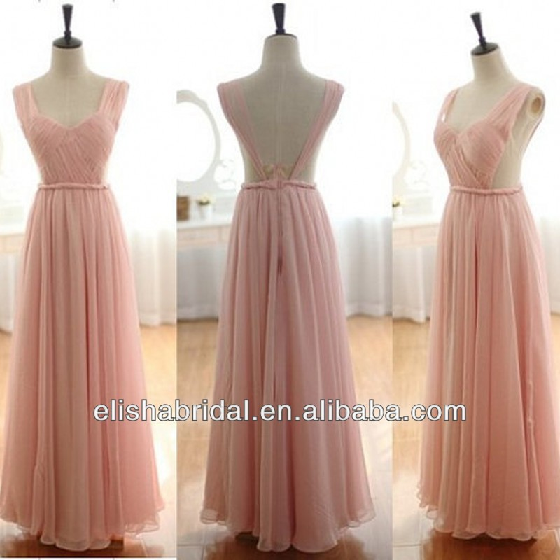 Sweetheart Neckline Backless Sheer Waist Long Chiffon Pink COlor Cheap Fairytale Prom Dresses-in Prom Dresses from Apparel & Accessories on Aliexpress.com