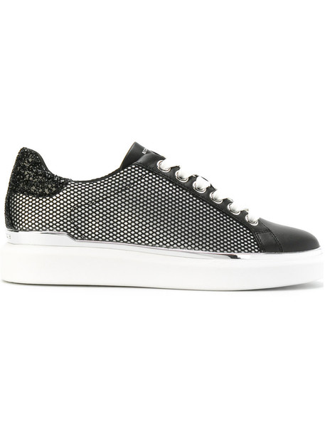 mesh women sneakers leather cotton black shoes