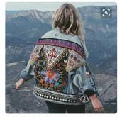 jacket,denim,embroidered,pattern,gypsy,bohemian,boho,hippie,colorful
