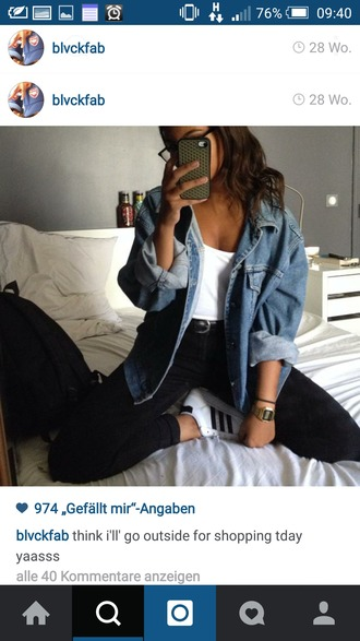 jacket denim jacket oversized adidas
