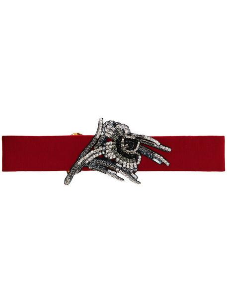 No21 women embellished belt cotton red