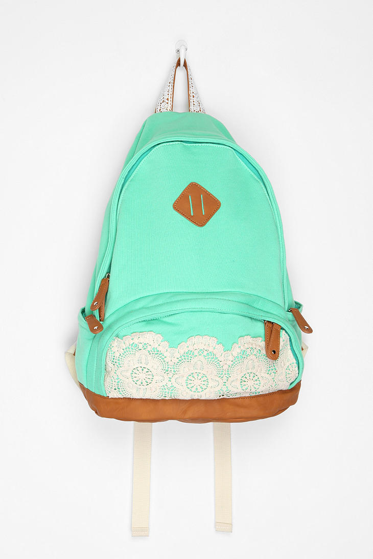 Kimchi Blue Lace & Jersey Backpack - Urban Outfitters