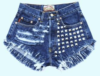 shorts jeans high waisted shorts ripped shorts levi t-shirt top underwear dress high heels studded shorts cut off shorts