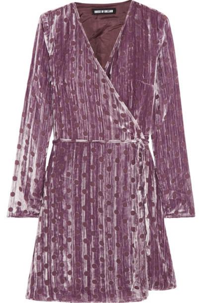House of Holland dress mini dress mini velvet lilac