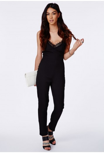 Agrita lace trim strappy jumpsuit
