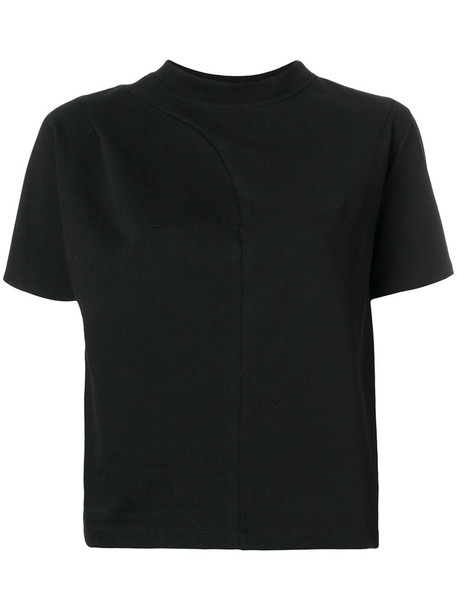 Vejas - round-neck T-shirt - women - Cotton - S, Black, Cotton