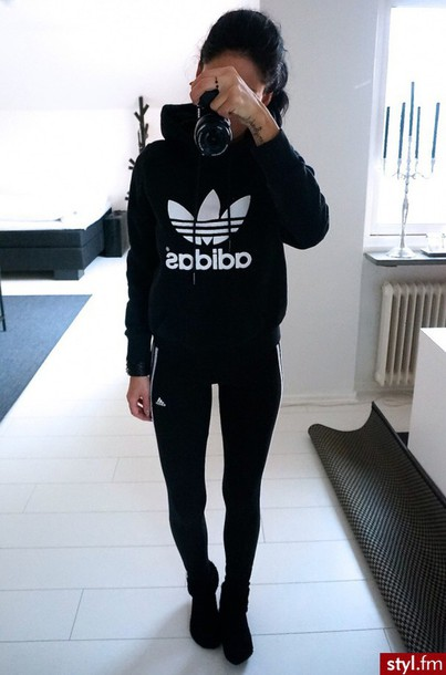 447d2a0572ce1 jacket sweater pants adidas tights sweatshirt jumpsuit black leggings