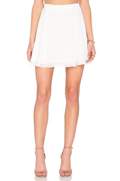 BB Dakota skirt mini skirt mini rose white