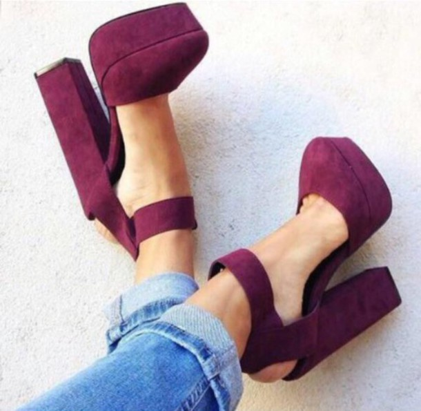 shoes bordeau heels