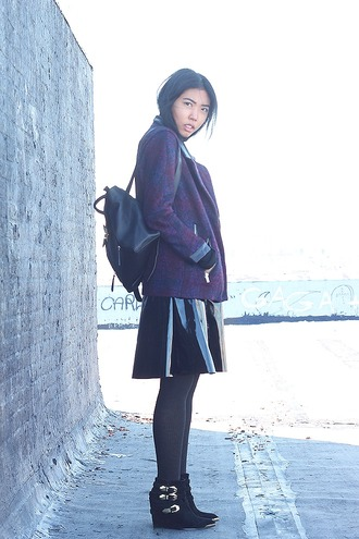 fashion of a novice blogger skirt vinyl leather backpack