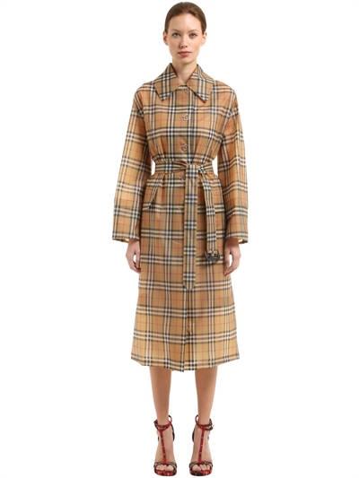 BURBERRY, Runway ss18 heritage check raincoat, Multicolor, Luisaviaroma