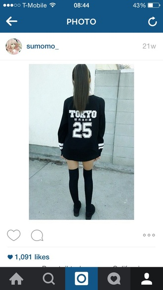 shirt tokyo 25 black sweater