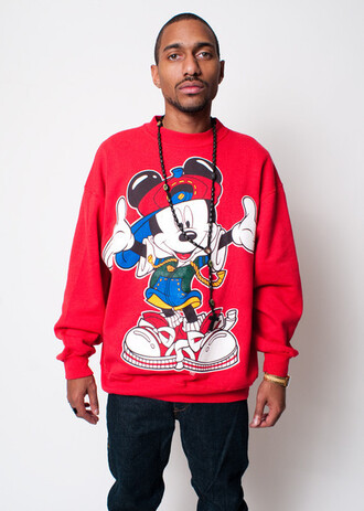 sweater mickey mouse swag