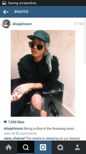 coat dope edgy cool tumblr instagram girly fluffy grey black streetstyle trendy hair girl black girls killin it grunge fashion celebrity style