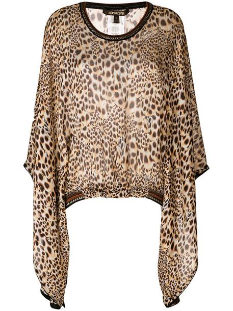 Roberto Cavalli women nude silk top