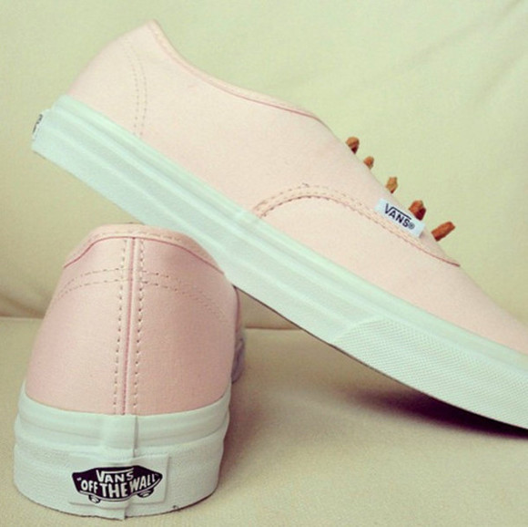 shoes vans vans authentic vans sneakers pink romantic pastel