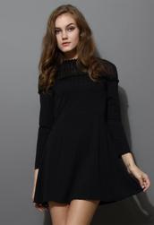 dress,mesh,shoulder,panel,houndstooth,jacquard