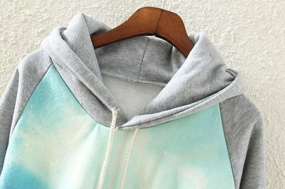 Grey Hooded Long Sleeve Car Print Sweatshirt - Sheinside.com