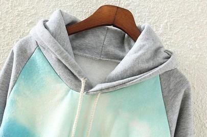 Grey Hooded Long Sleeve Car Print Sweatshirt - Sheinside.com