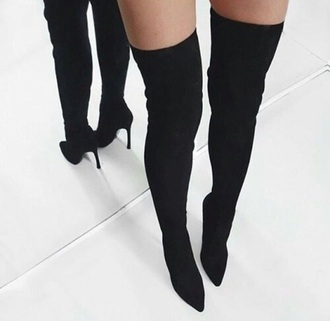shoes black heels boots high heels high heels boots thigh high boots