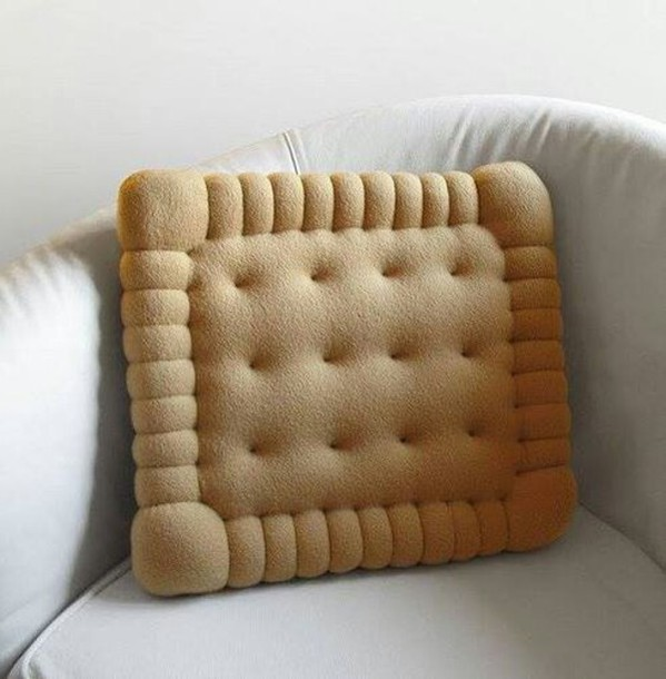 home accessory biscuit pillow pillow food funny