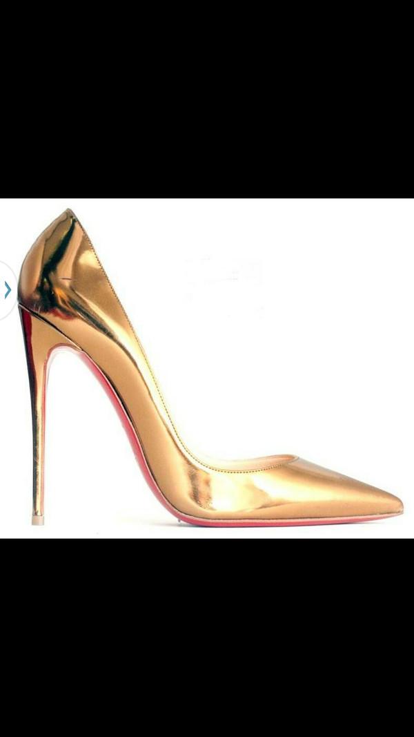 shoes keke palmer gold heels red bottoms