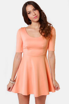 Cute peach dress