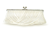 bag,bride,weddingday,beaded,clutch,handbag,ivory,wedding accessories